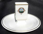 Hotel Dennis Matchstand Atlantic City Nj Scammell China 1928-1930