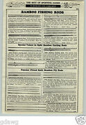 1933 Paper Ad 4 Pg Split Bamboo Fishing Rods Heddonand039s Montague Manitou Fly Rod