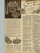 1947 Paper Ad 2 Pg Dinnerware Harmony House Crystal Portuguese Cumberland Ivy