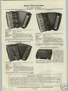 1938 Paper Ad 2 Sided Hohner Piano Accordion Patrician Model