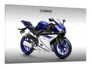 Yamaha Yzf-r125 - 30x20 Inch Canvas Framed Picture Print