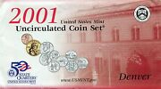 2001 Partial 7 - Coin Mint Set Orig Packaging-2penny 2nickel 2dime Dollar