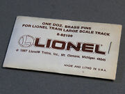 Lionel G Gauge Brass Track Pins Train Lock On Connector Jointers 8-82109 New