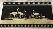 Coventry Ware Chalkware Art Deco Wall Hanging Panel Black And White Flamingos 19