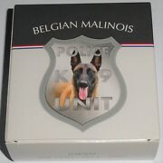 Niue 1 Oz Silver Belgian Malinois 2016 Color Police Dog K-9 Unit Only 999 Pieces