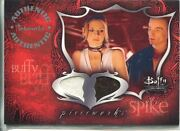 Buffy Tvs Connections Dual Pieceworks Card Pwc-1 Buffy And Spike Top And Skirt