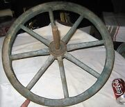 Antique Ames Plow Co Tool Usa Primitive Country Hardware Wood Iron Wheel Barrel