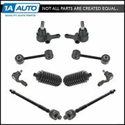 Front Tie Rod Boots Ball Joint Sway Bar Link Steering Suspension Kit Set 10pc