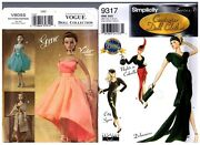 Simplicity 9317 Vogue 8055 15 1/2 Doll Couturier Dress Pattern Retired / Uncut