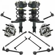 12 Piece Steering And Suspension Kit Struts Control Arms Tie Rods Ball Joints New
