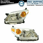 Headlight Lamp Assembly Pair Lh Driver And Rh Passenger Set For 08-12 Scion Xd New