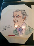 George Mcgovern Signed / Autograph Picture / Drawing 1970's