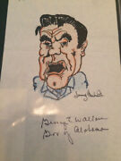 George Wallace Signed / Autograph Picture / Drawing 1970's
