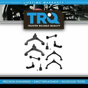 Trq 10pc Steering And Suspension Kit Control Arms Ball Joints Tie Rods End Links