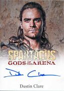 Spartacus 2012 Gods Of The Arena Autograph Card Dustin Clare