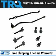 Trq 9 Pc Steering And Suspension Kit Tie Rod Ends Ball Joints Track Bar Brand New