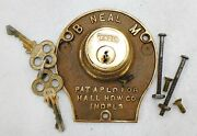 Model T Neal Accessories Brass Locking Ignition Switch With Keys With Box