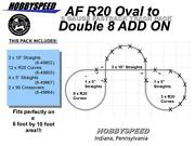 Lionel American Flyer Fastrack R20 Oval To Double 8 Track Layout Add-on-pack New