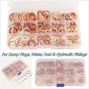 280 Pcs 12 Size Assorted Car Off-road Solid Crush Washer Seal Flat Ring + Box