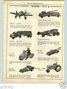 1951 Paper Ad Hubley Toy Police Motorcycle 5 Rubber Wheels Tow Truck Tractor
