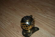 3.5 Brass Navy Deep Sea Divers Helmet Paperweight Or Candle Snuffer