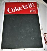 Vintage Country Usa Store Cafe Coca Cola Menu Food Board Tin Sign Not Porcelain