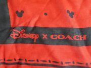 New Red Mickey Mouse Coach X Disney Oversize Square Soft Polka Dot Scarf Wrap