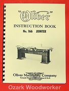 Oliver 166 Wood Planer And Jointer Operator And Parts Manual 0973