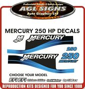 Mercury 250 Hp Reproduction Decal Set  Efi Optimax Saltwater Offshore