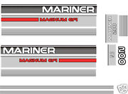 1990and039s Mercury Mariner 200 Magnum Efi Decals Merc Outboard 150 175 Hp Also