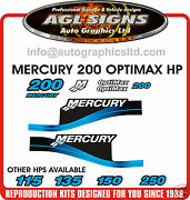 Mercury 200 Optimax Reproduction Kit Red And 150 175 250 Hpand039s Available