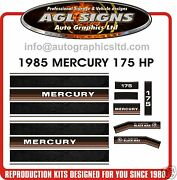 1985 Mercury 175 Black Max V6 Reproduction Outboard Decals