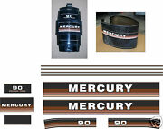 1984 1985 Mercury 90 Hp Reproduction Outboard Decal Kit Also 115 Hp