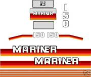 Mariner 150 Hp Decals 1990 And039s Stickers Reproductions 175 200