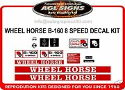 Wheel Horse B-160 8 Speed Tractor Decal Set Reprocduction