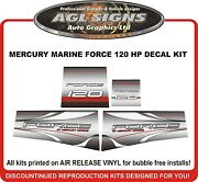 Mercury Marine Force 120 Hp Decal Set 90and039s Reproductions 125 Hp Also