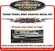 Large Tahoe 3d Tribal Metal Look Graphic Decal Kit Choose Colors And Other Logos