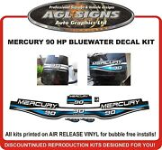 Mercury 90 Hp Blue Water Reproduction Decal Kit 1.4 Litre