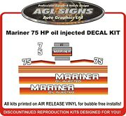 Mercury Mariner 75 Hp Outboard Replacement Decal Kit Oil Injected