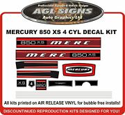 Mercury 850 Xs Outboard Reproduction Decal Kit 4 Cyl Model 85