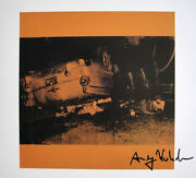 Andy Warhol 5 Deaths On Yellow 1982 Hand Signed Print