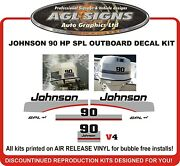 1997 1998 Johnson 90 Hp Spl Outboard Replacement Decal Kit Also 115 Hp