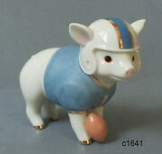 Lenox Halloween Touchdown Tommy Football Pig Figurine - New In Box