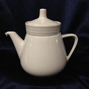 Villeroy And Boch Luxembourg All White Individual Teapot 6 Infuser Restaurant