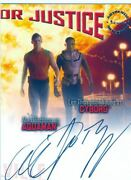 Smallville Season 6 Dual Autograph Card Ajb Alan Ritchson And Lee Thompson Young