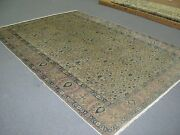 Semi Antique Vintage Turkish Sivas Hereke Rug Wool Hand Knotted 6and039-9 X 9and039-9