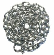 Stainless Steel 316 Anchor Chain 5mm Or 3/16 By 6and039 Long With Quality Shackles