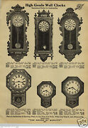 1912 Paper Ad Ansonia Waterbury New Haven Regulator Wall Clocks 38 Tall