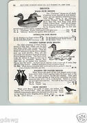1915 Paper Ad Folding Tin Polver Plover Decoy Challenge Carved Wood Canvas Crow