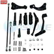 Black Forward Controls Pegs Levers Linkage For 14-17 Harley Sportster 1200 883